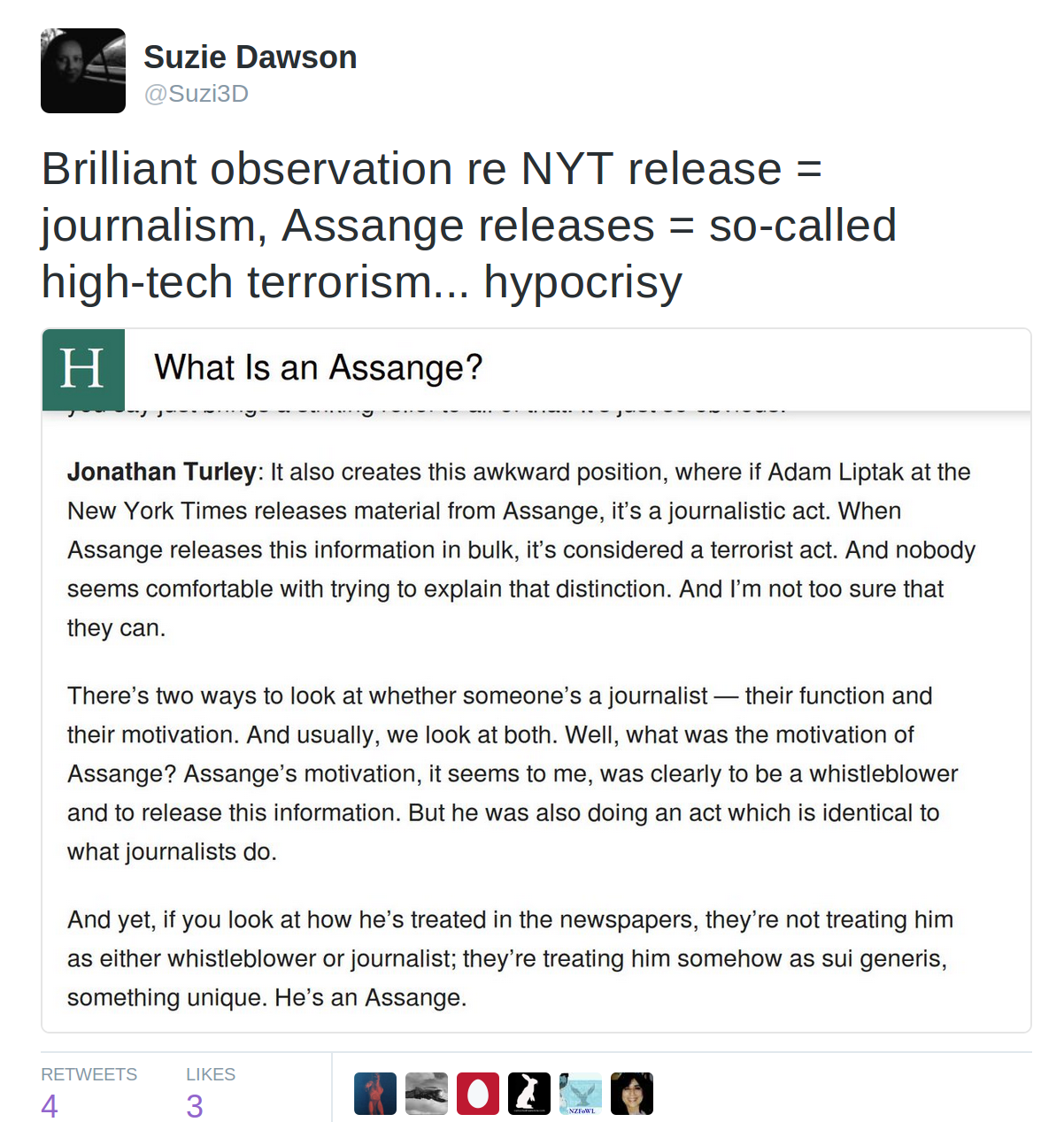 Nej till permission for assange